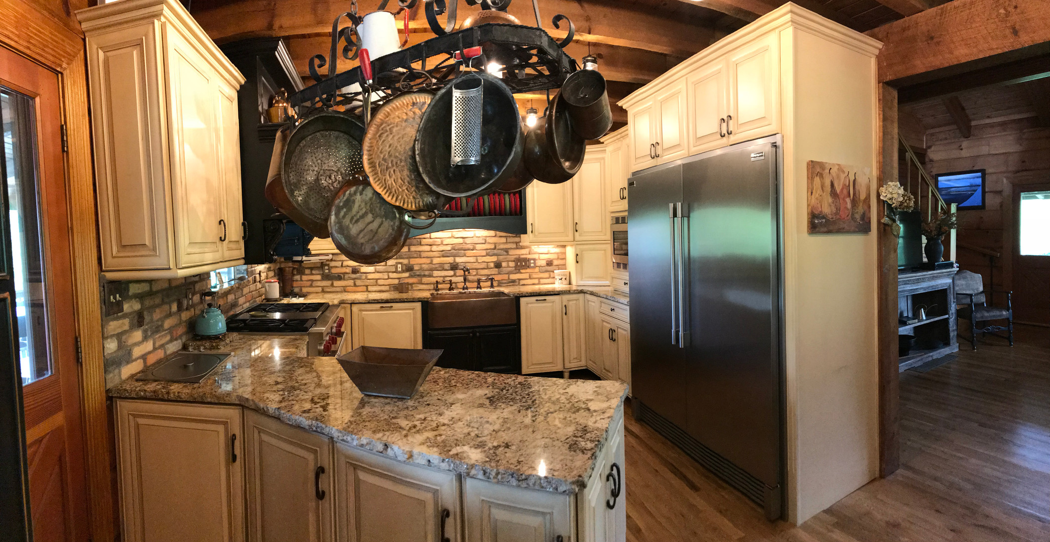 Lodge kitchen fridge