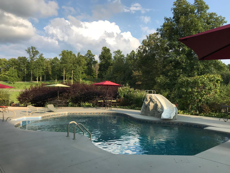 Lodge pool slide