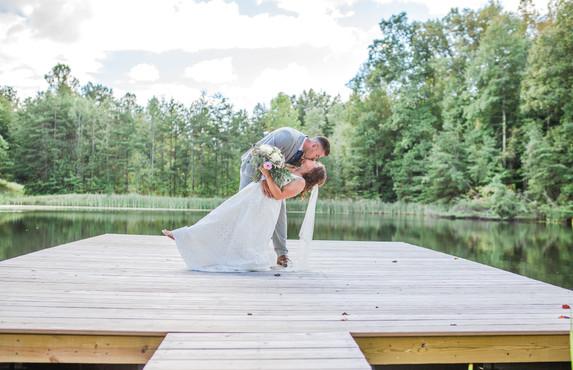 Bride & Groom lower pond tip