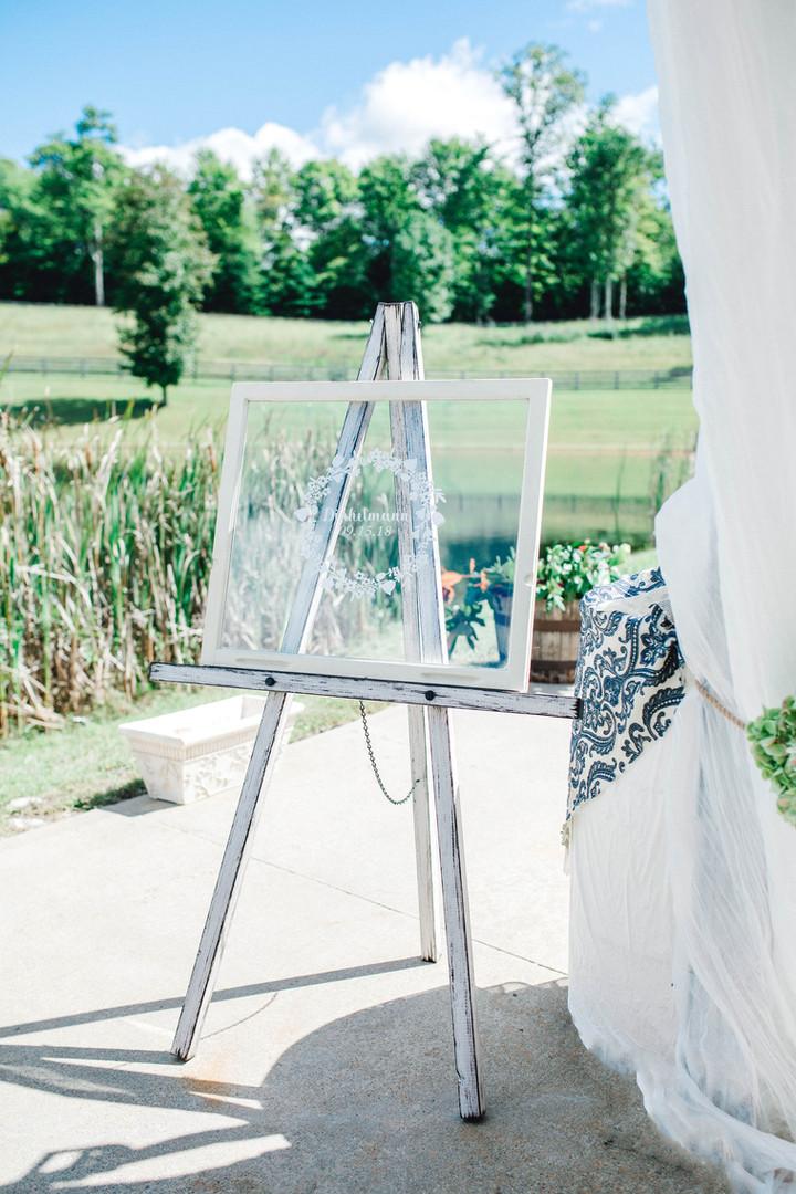 Wedding personal window decor