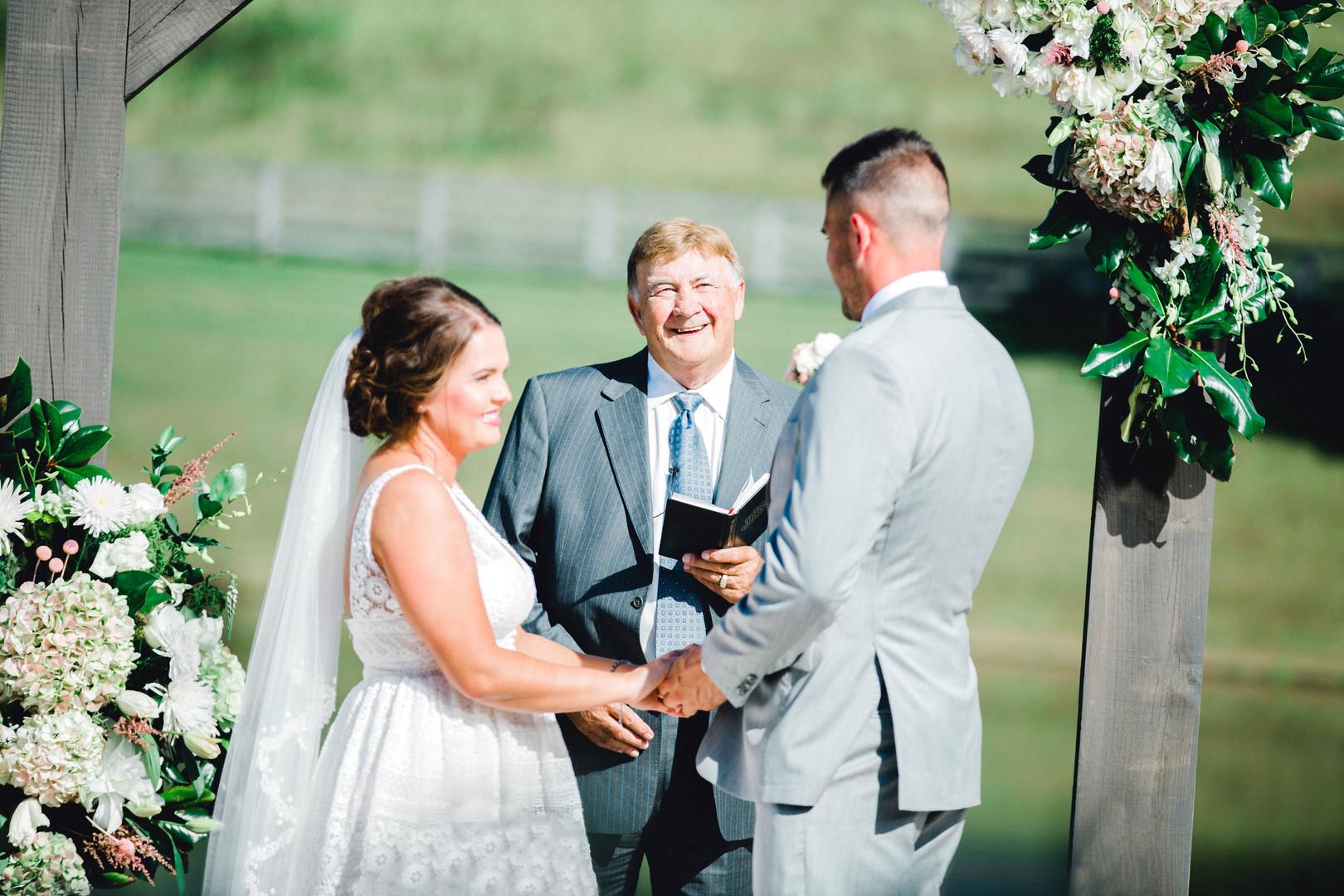 Bride & Groom Vows, Papaw Pastor