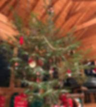 Christmas 2017 live tree homemade orname