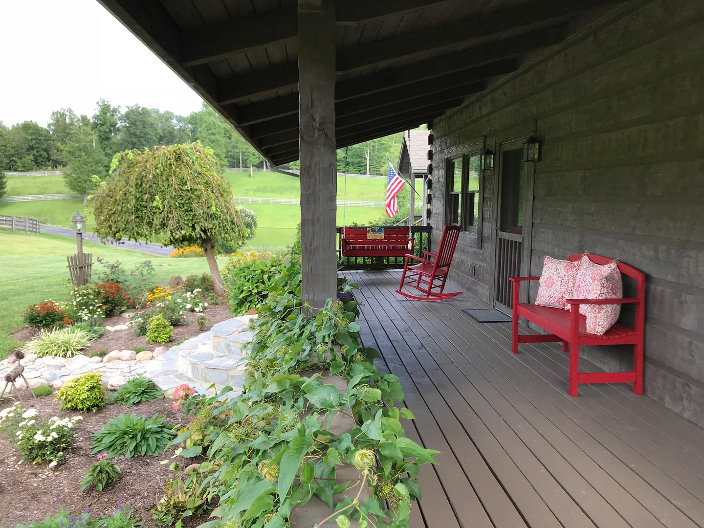 Lodge front porch rocker