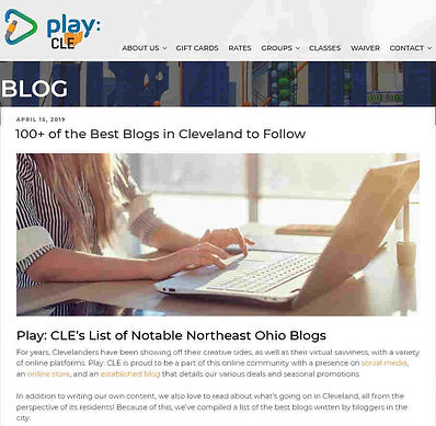 Play CLE's List of Notable NE Ohio Blogs