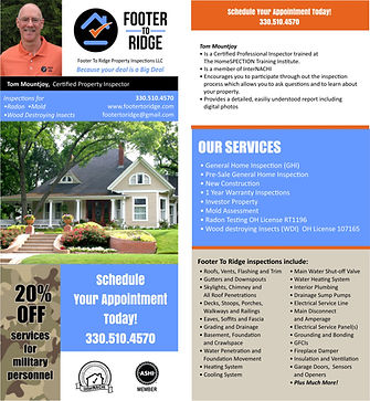 Picture & Link to Footer to Ridge Home Inspections