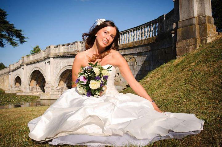 Bride with tumbling locks