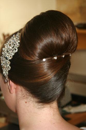 Bridal hair classic up-do