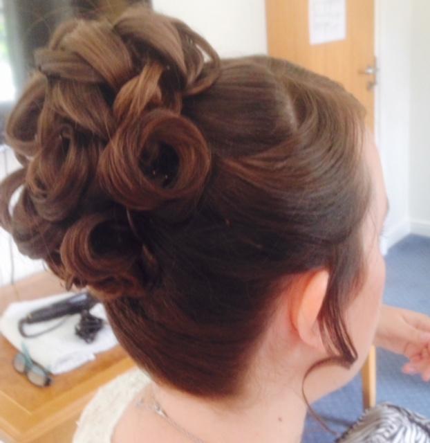 Elaborate bridal hair up-do
