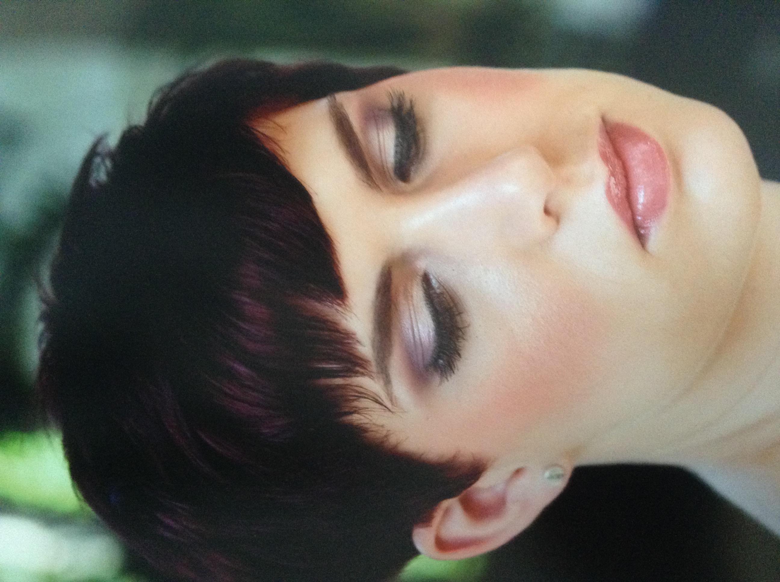 Modern short bridal hair