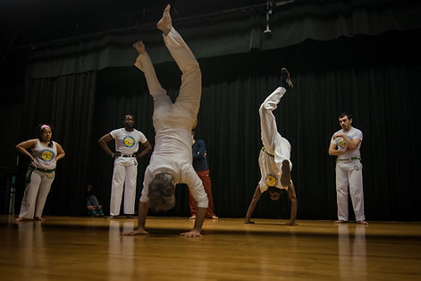 Workshops during the Roanoke Capoeira Center grand opening. Capoeira Angola Quintal.
