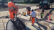 Anlægsarbejde i Roskilde