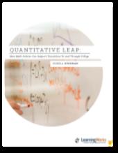Taking a Quantitative Leap Toward College Success: new policy brief