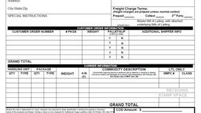 Standard BOL (Bill of Lading)