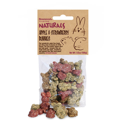Apple and strawberry Bunnies (3.5 oz.)