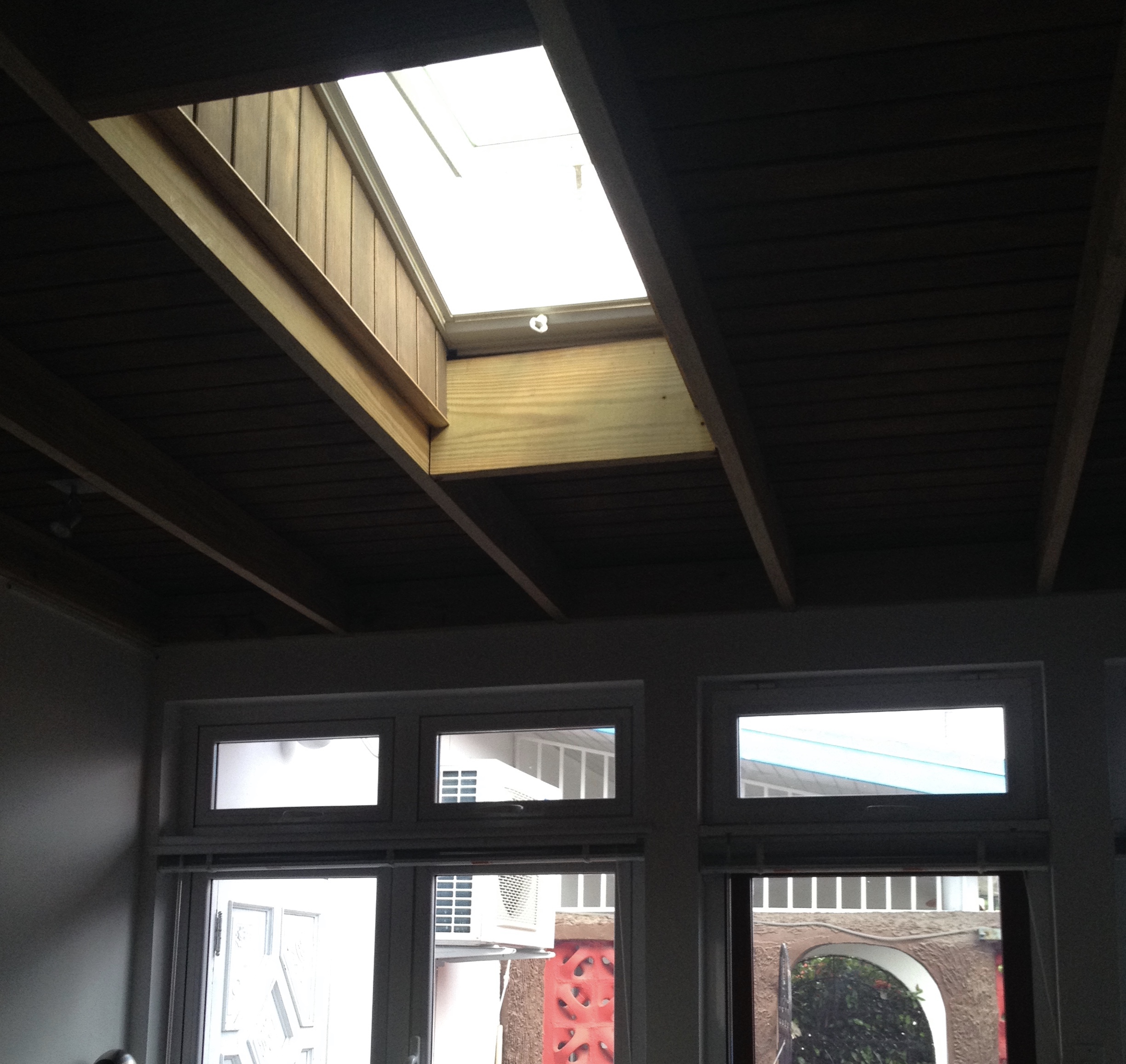 retractable skylight in west wing