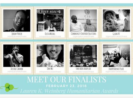 The Lauren K. Weinberg finalists are announced!