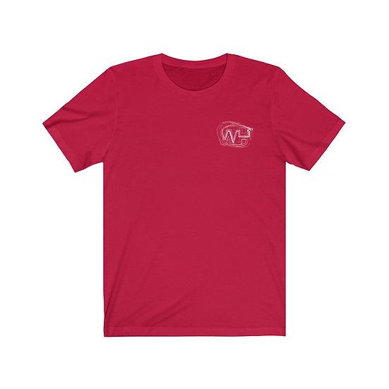 WHF WHITE BRUSH - FRONT AND BACK - Unisex Jersey Short Sleeve Tee