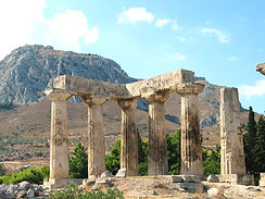 Greece - Corinth - Apollo Temple - 2 - T