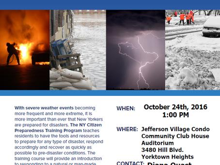 Yorktown Rotary Hosting NYS Community Preparedness Event
