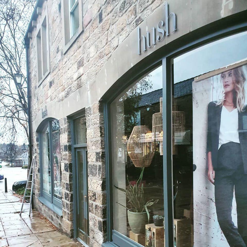 Window cleaning, Ilkley, shop, hush