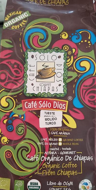 """Café Sólo Dios"" MOLIDO TURCO 1 KILO"