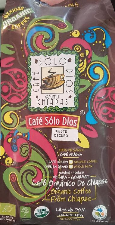 """Café Sólo Dios""TUESTE OSCURO 1 KILO"