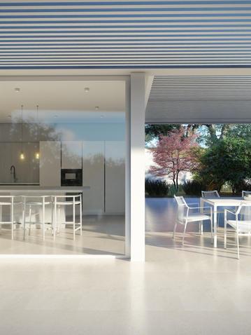 Kitchen and terrace OHLIVE beach villa.j