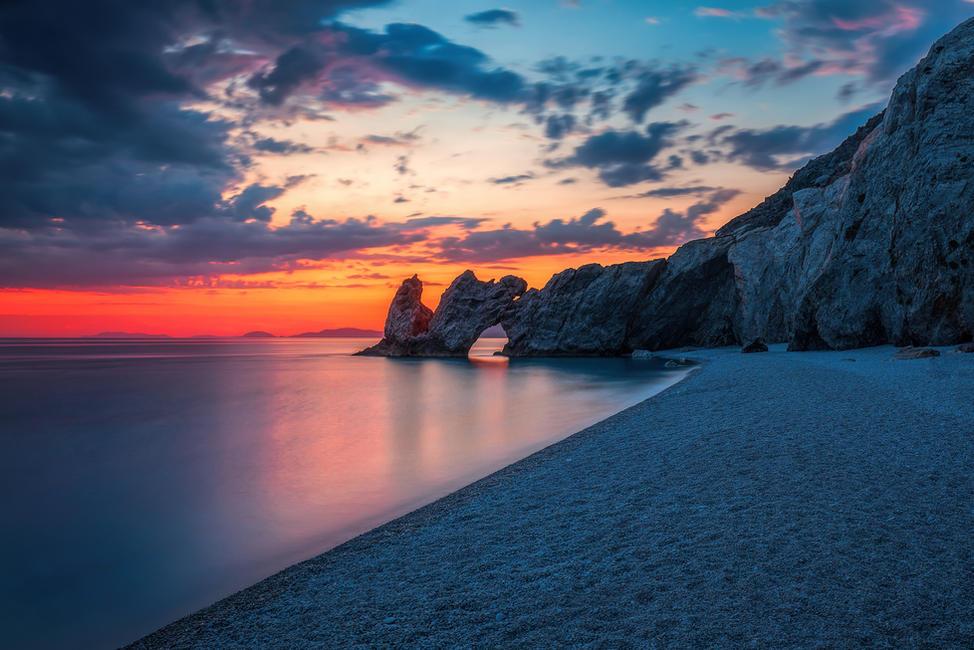 Sunset at Lalaria Beach klein.jpg