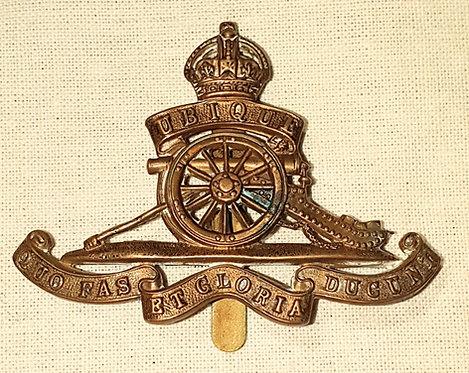 Original WW1 Royal artillery cap badge