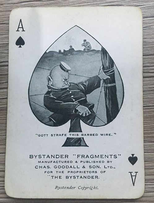 Rare full set of WW1 playing cards