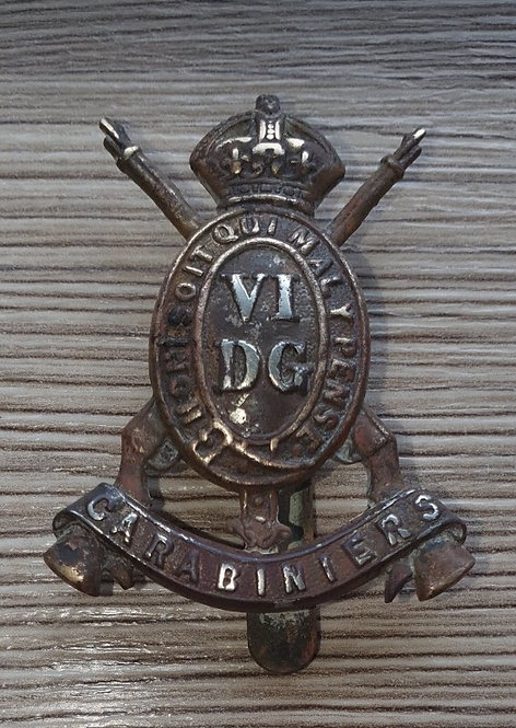 WW1 6th Dragoon Guards Cap badge.