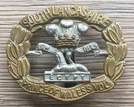 Genuine South Lancs Cap Badge