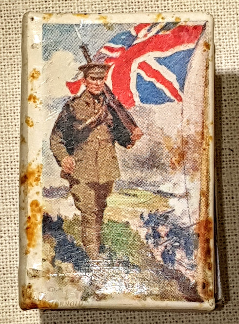WW1 King and Country matchbox holder