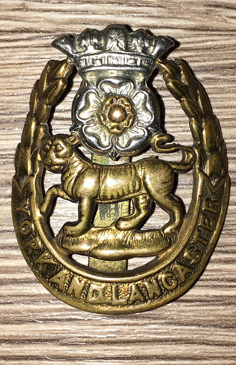 WW1 York and Lancaster Cap Badge