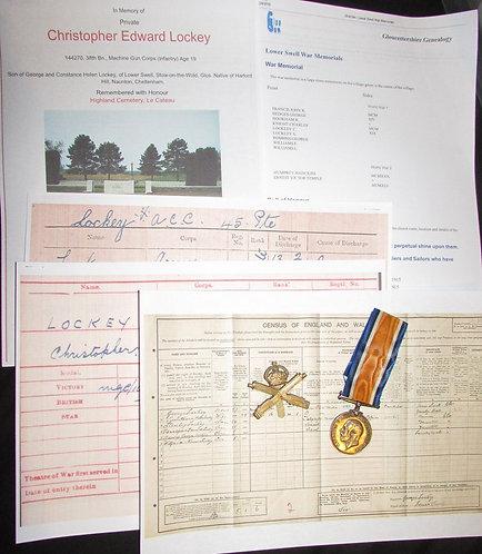 WW1 War Medal Casualty Machine Gun Corps