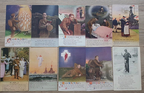 Collection of WW1 postcards.