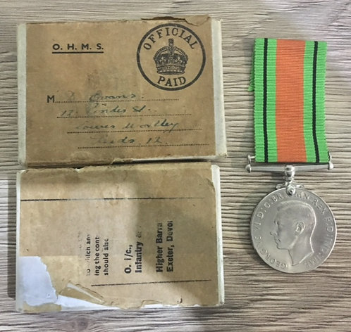 WW2 Boxed Defence Medal