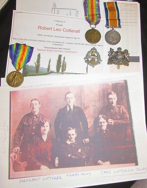 Brothers Medals Casualty and POW, Cotterall