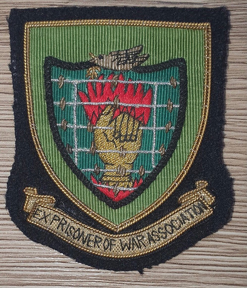 Bullion ex POW association  blazer badge