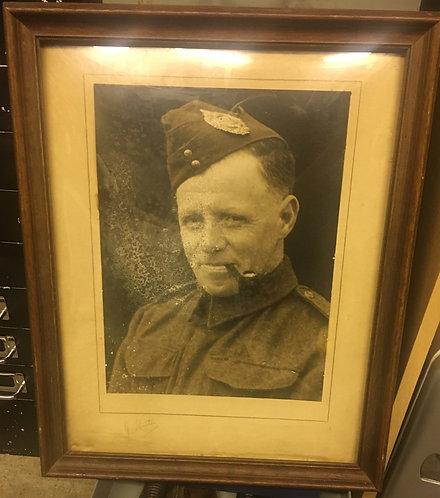 Large framed photo of Argyll and Sutherland Highlanders