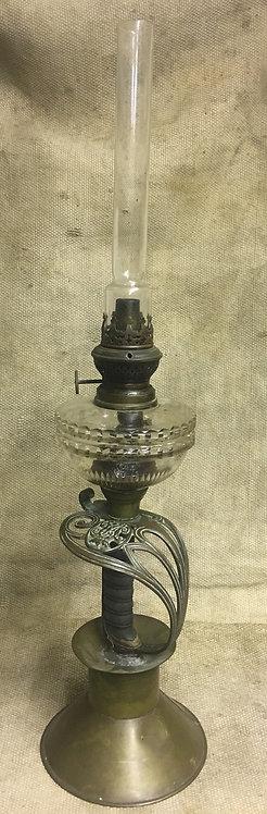 Victorian Sword Handle Paraffin lamp