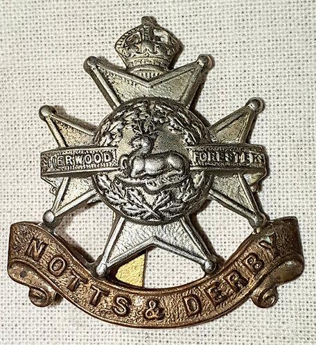 Original Notts & Derby Regiment cap badge