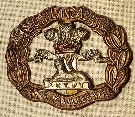 Original WW1 South Lancashire Regiment can badge