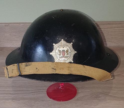 WW2 Dorset fire brigade home front helmet.