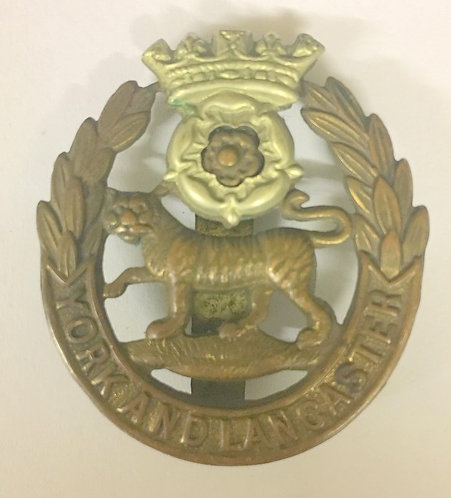 WW2 York & Lancashire Regiment Cap Badge