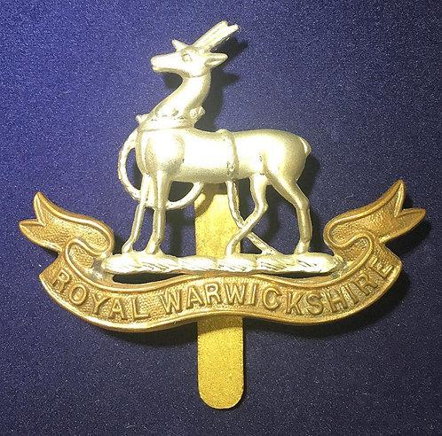 WW1 Warwickshire Cap badge