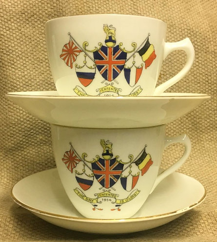 WW1 Tea Cups Pair
