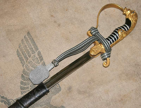 WW2 German Army Officer Sword Blucher HOLD