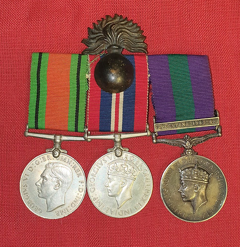 Ww2 and GSM Palestine group Grenadier Guards