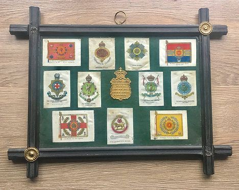 WW1 era BDV cigarette silks framed